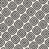 Vector Seamless Black and White Hand Drawn Rhombus Lines Pattern Royalty Free Stock Photo