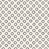 Vector Seamless Black and White Hand Drawn Rounded Rhombus Pattern Royalty Free Stock Photography