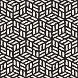 Vector Seamless Black And White Hand Painted Line Geometric Rhombus Pavement Pattern Royalty Free Stock Images
