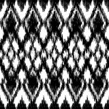 Vector seamless black and white ikat ethnic pattern royalty free illustration
