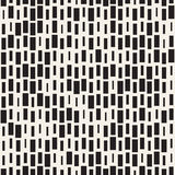 Vector Seamless Black And White Irregular Dash Rectangles Grid Pattern. Abstract Geometric Background Design Royalty Free Stock Images
