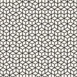 Vector Seamless Black and White Irregular Rhombus Grid Pattern royalty free illustration