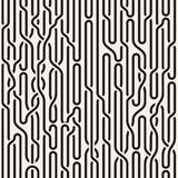 Vector Seamless Black and White Irregular Vertical Braid Lines Pattern Stock Images