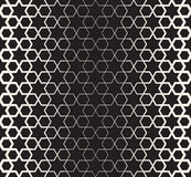 Vector Seamless Black And White Islamic Star Geometric Halftone Line Pattern Royalty Free Stock Photography