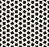 Vector Seamless Black And White Jumble Squares Rotation Pattern Stock Photos