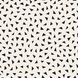 Vector Seamless Black And White Jumble Triangle Pattern. Abstract Geometric Background Design Royalty Free Stock Photo