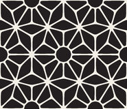 Vector Seamless Black and White Lace Floral Pattern Royalty Free Stock Photography