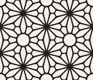 Vector Seamless Black and White Lace Floral Pattern Royalty Free Stock Photo