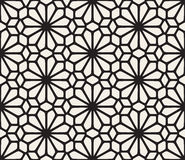 Vector Seamless Black and White Lace Floral Pattern. Abstract Geometric Background Design Royalty Free Stock Photo