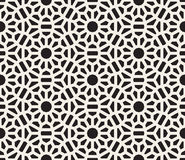 Vector Seamless Black and White Lace Floral Pattern. Abstract Geometric Background Design Royalty Free Stock Photography