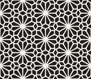 Vector Seamless Black and White Lace Floral Pattern. Abstract Geometric Background Design Royalty Free Stock Image