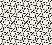 Vector Seamless Black and White Lattice Geometric Pattern royalty free illustration