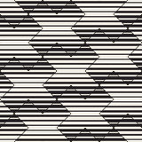 Vector Seamless Black And White Lines Pattern Abstract Background. Cross Shapes Geometric Tiling Ornament. Vector Seamless Black And White Lines Pattern Stock Photo