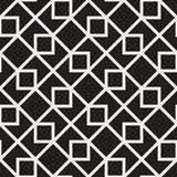 Vector Seamless Black And White Lines Pattern Abstract Background. Cross Shapes Geometric Tiling Ornament. Vector Seamless Black And White Lines Pattern Stock Images