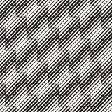 Vector Seamless Black And White Lines Pattern Abstract Background. Cross Shapes Geometric Tiling Ornament. Vector Seamless Black And White Lines Pattern Stock Image