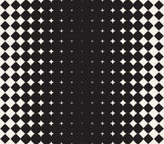 Vector Seamless Black and White Morphing Star Halftone Grid Gradient Pattern Geometric Background Stock Images