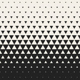 Vector Seamless Black and White Morphing Triangle Halftone Grid Gradient Pattern Geometric Background. Vector Seamless Black and White Morphing Triangle Halftone Royalty Free Stock Images