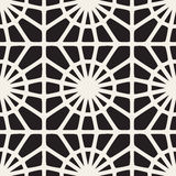 Vector Seamless Black and White Mosaic Lace Pattern Royalty Free Stock Image