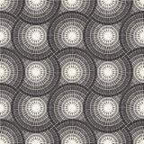 Vector Seamless Black and White Mosaic Pavement Pattern Stock Image