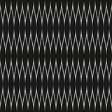 Abstract geometric seamless pattern with curved zigzag lines, thin wavy stripes. Vector seamless black and white pattern. Abstract geometric texture with curved Stock Photos