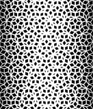 Vector Seamless Black And White Pentagon Star Lace Pattern Stock Photo