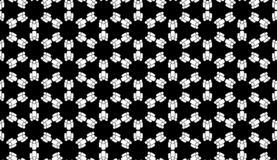 Vector Seamless Black and White people Pattern Background. Background design with texture, geometric pattern, triangles, star, line and circle shapes in artsy royalty free illustration