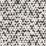 Vector Seamless Black and White Random Size Triangles Grid Pattern. Abstract Geometric Background Design vector illustration