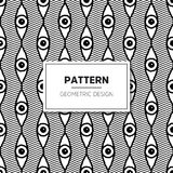 Vector Seamless Black and White Round Star Lace Ornamental. Pattern Stock Image