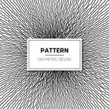 Vector Seamless Black and White Round Star Lace Ornamental. Pattern Royalty Free Stock Images