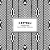Vector Seamless Black and White Round Star Lace Ornamental. Pattern Stock Photos