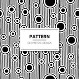 Vector Seamless Black and White Round Star Lace Ornamental. Pattern Royalty Free Stock Photography