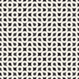Vector Seamless Black and White Rounded Circle Maze Line Truchet Pattern Royalty Free Stock Photo