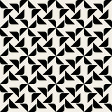 Vector Seamless Black And White Rounded Corner Triangle Square Geometric Pattern Royalty Free Stock Photos