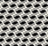 Vector Seamless Black And White Rounded Drop Shape Pattern Stock Image