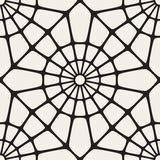 Vector Seamless Black and White Rounded Lace Ornamental Pattern Royalty Free Stock Photos