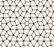 Vector Seamless Black and White Rounded Lace Pattern Stock Photos