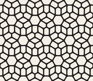 Vector Seamless Black and White Rounded Lace Pattern Royalty Free Stock Photo