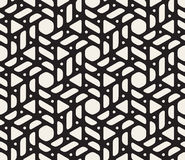 Vector Seamless Black and White Rounded Shapes Triangles and Circles Pattern Stock Photography
