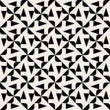 Vector Seamless Black And White Rounded Triangle Spyral Geometric Pattern Stock Photos