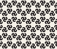 Vector Seamless Black and White Rounded Triangular Swirl Shape Pattern Stock Photo