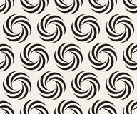 Vector Seamless Black and White Spiral Geometry Circle Optical Illusion Pattern Stock Photo