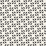 Vector Seamless Black And White Square Arrow Head Shape Geometric Pattern Royalty Free Stock Photos