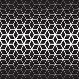 Vector Seamless Black And White Star Geometric Halftone Gradient Line Pattern Royalty Free Stock Photo