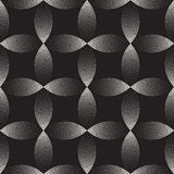 Vector Seamless Black And White Stippling Arc Circle Shapes Gradient Halftone Dot Work Pattern Royalty Free Stock Photos