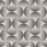 Vector Seamless Black And White Stippling Arcs Rounded Circles Tiling Dotwork Pattern Royalty Free Stock Photo