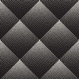 Vector Seamless Black And White Stippling Rhombus Gradient Halftone Dot Work Pattern Stock Image