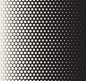 Vector Seamless Black and White Transition Halftone Hexagonal Grid Pattern Royalty Free Stock Photo