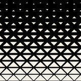 Vector Seamless Black And White Triangle Grid Halftone Pattern Stock Photography