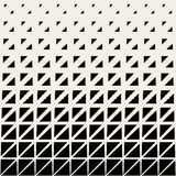 Vector Seamless Black And White Triangle Grid Halftone Pattern Royalty Free Stock Photo