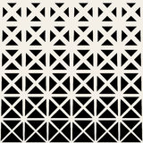 Vector Seamless Black And White Triangle Grid Halftone Pattern Stock Photos
